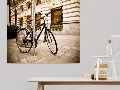 Πίνακας σε καμβά με ποδήλατο