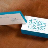 γαλάζιες με άσπρο επαγγελματικές κάρτες