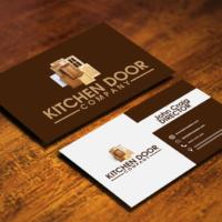 δίχρωμη επαγγελματική κάρτα με καφέ και άσπρο